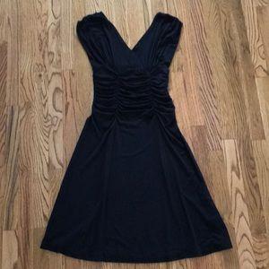 NWOT CAbi Black Knit Sleeveless Midi Dress M